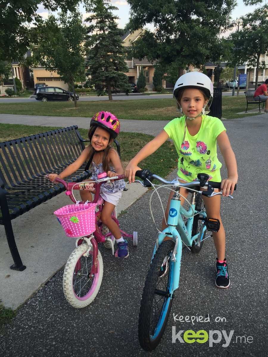 My big girls on their bikes