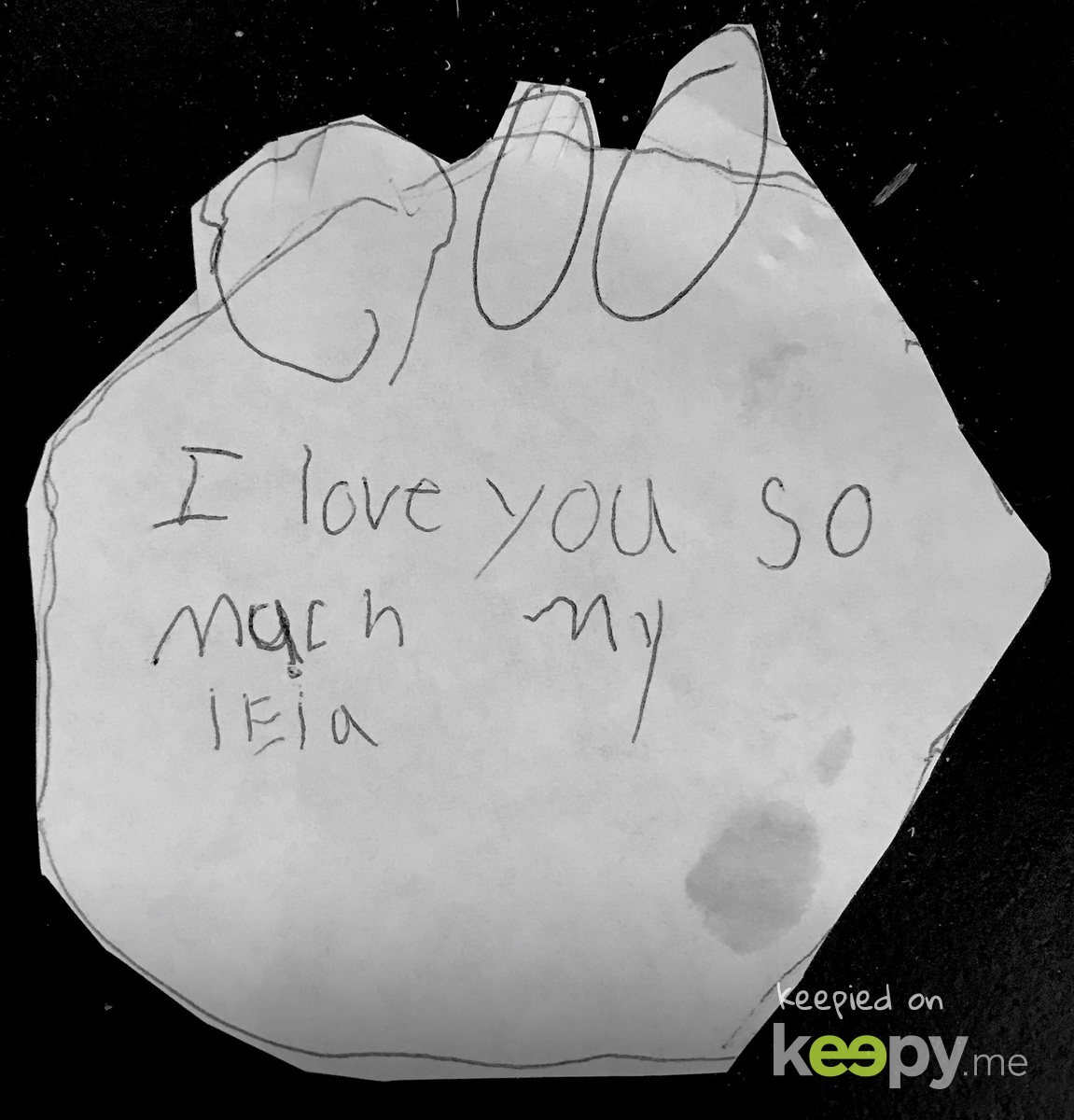 Devyn's picture that she drew for Leia (our dog) somewhere around 2013-ish I think.