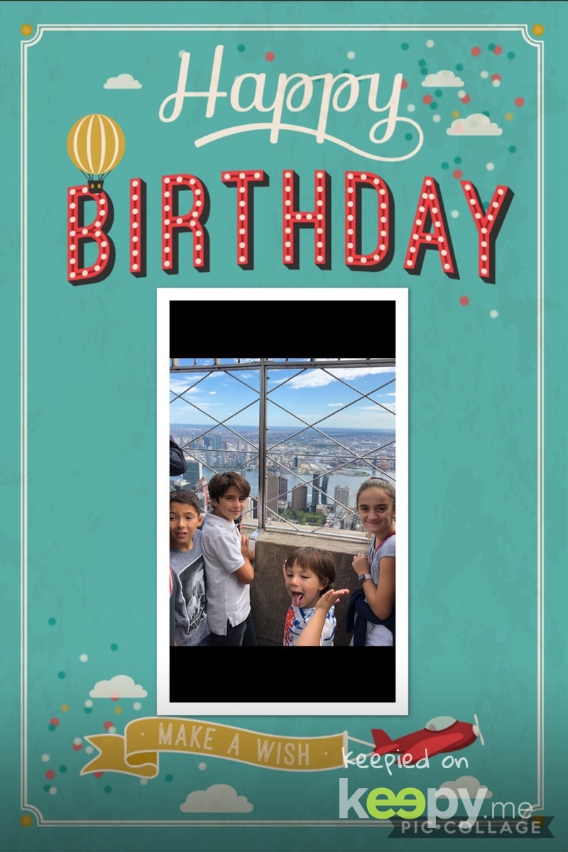 Electronic 6th birthday card from the DeMartino's!