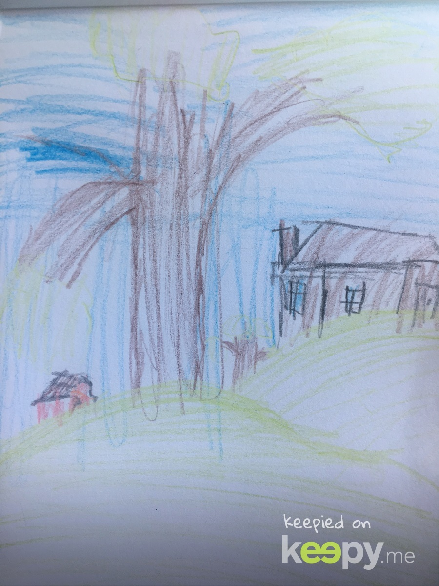 "I know I'm his mother, but I think this kid has some talent. He said he made a ""small farm.""  #realdepth #moveoverbobross"
