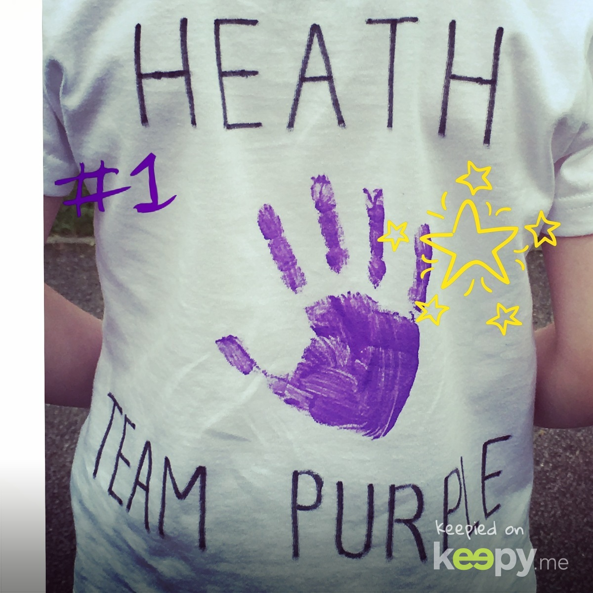 Personalised sports day t-shirt