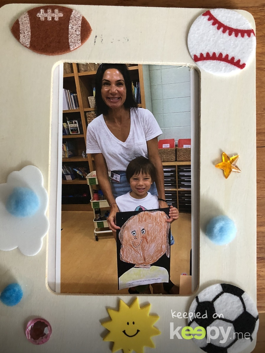 Picture frame decorated by Alexandre and photo is from patent morning at school!