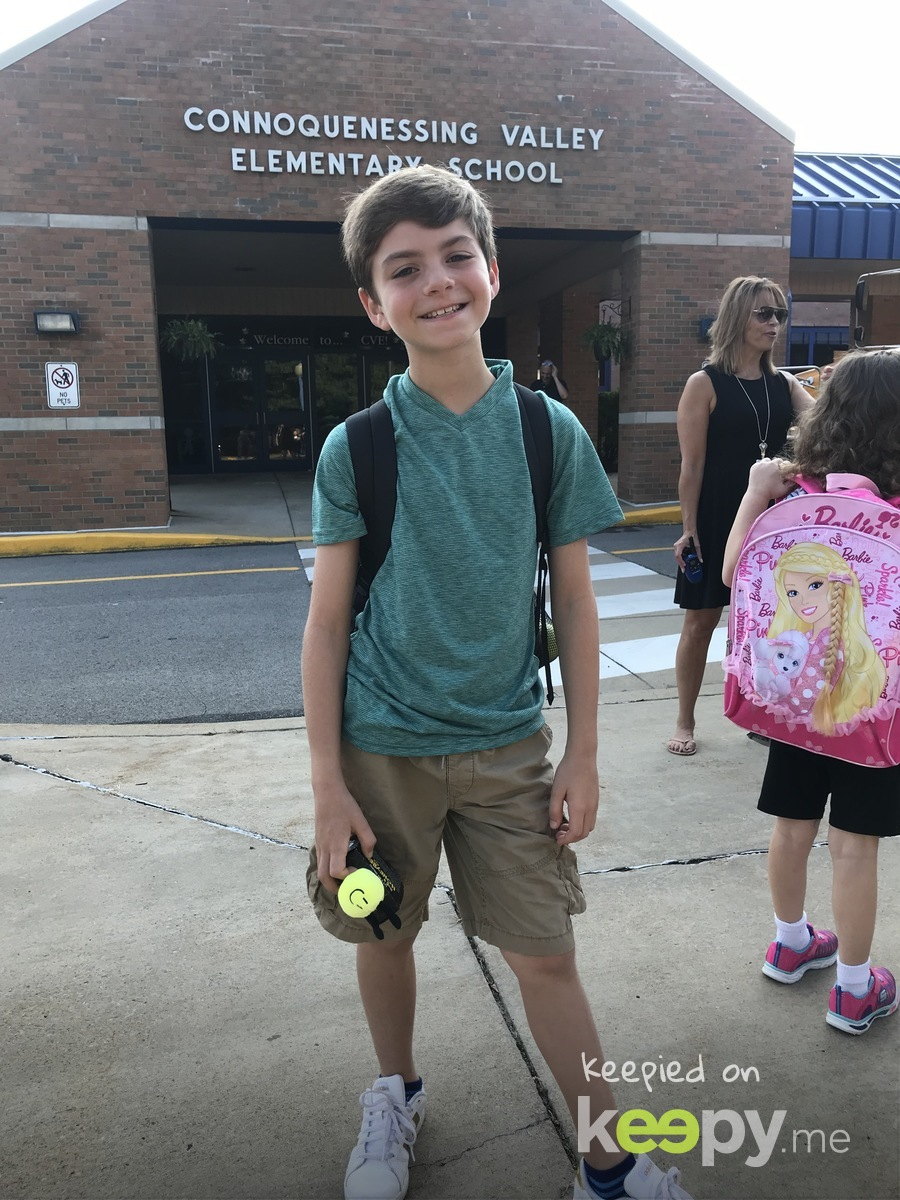 First day of 4th grade! Time has flown by...