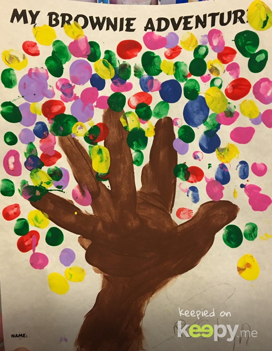 Each color represents a possible #GirlScout Brownie journey the troop can chose to take on their #Brownie adventure together.  #RoslynJ