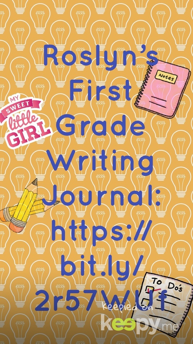 #RoslynJ #FirstGrade writing journal https://bit.ly/2r57WUf
