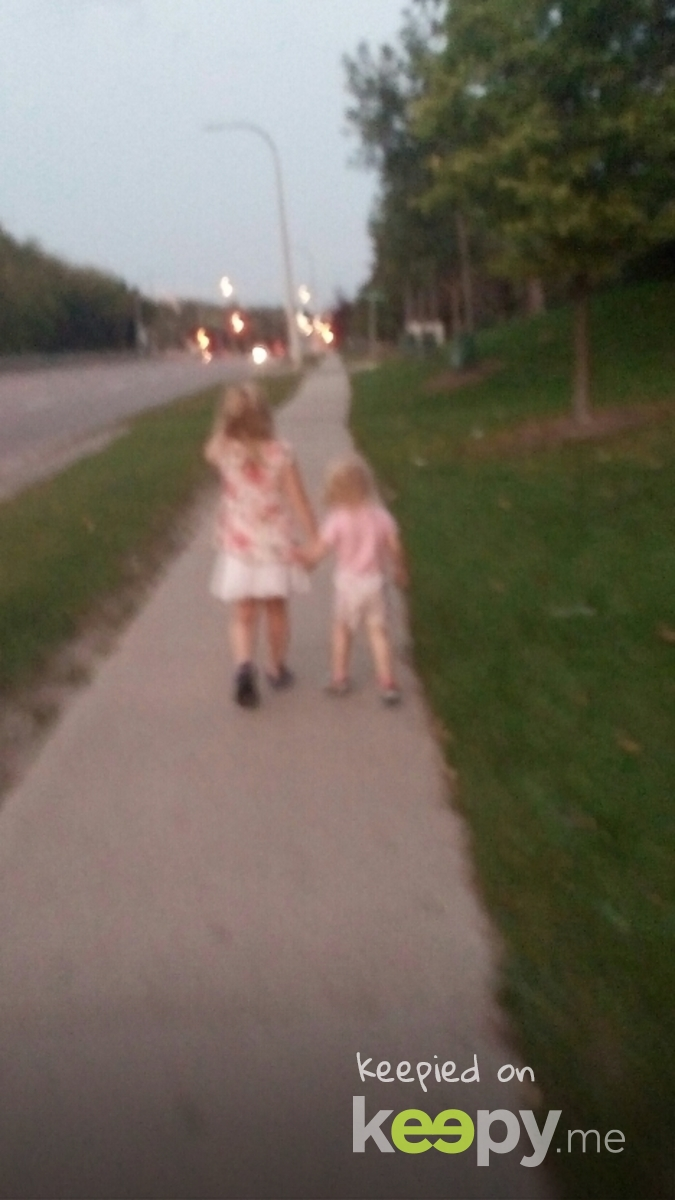 my girls on an adventure, hand in hand. :)