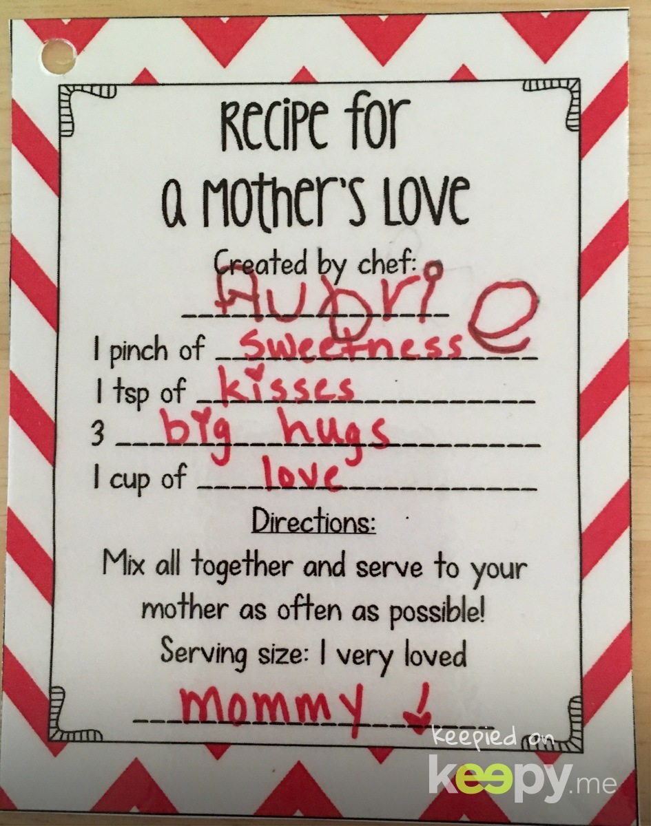 A Mothers Day Recipe