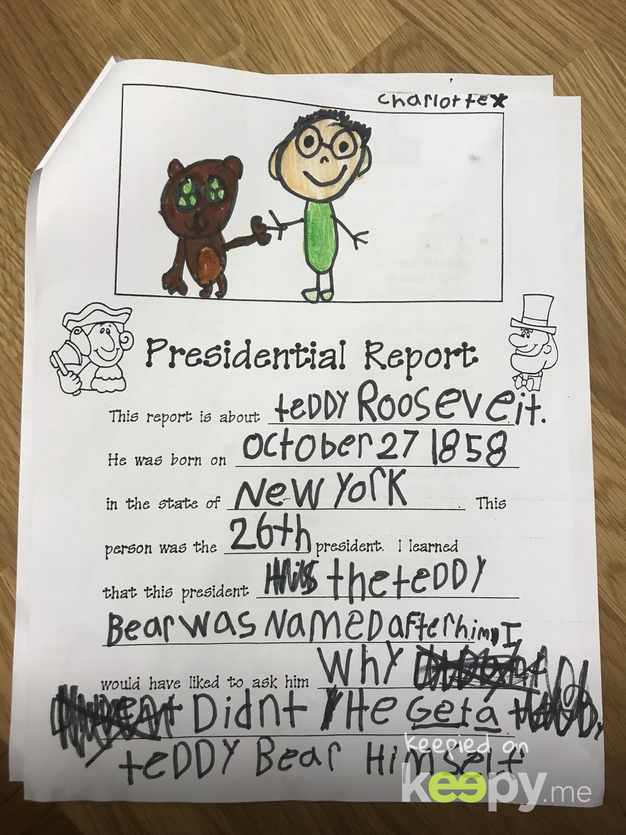 Charlotte's first book report!