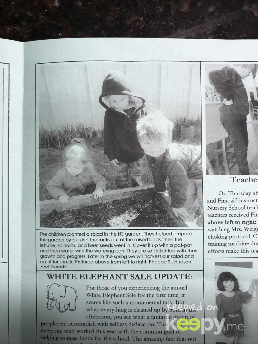 Everett in newsletter