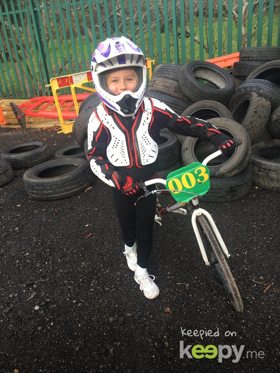 Loving her bmx try out