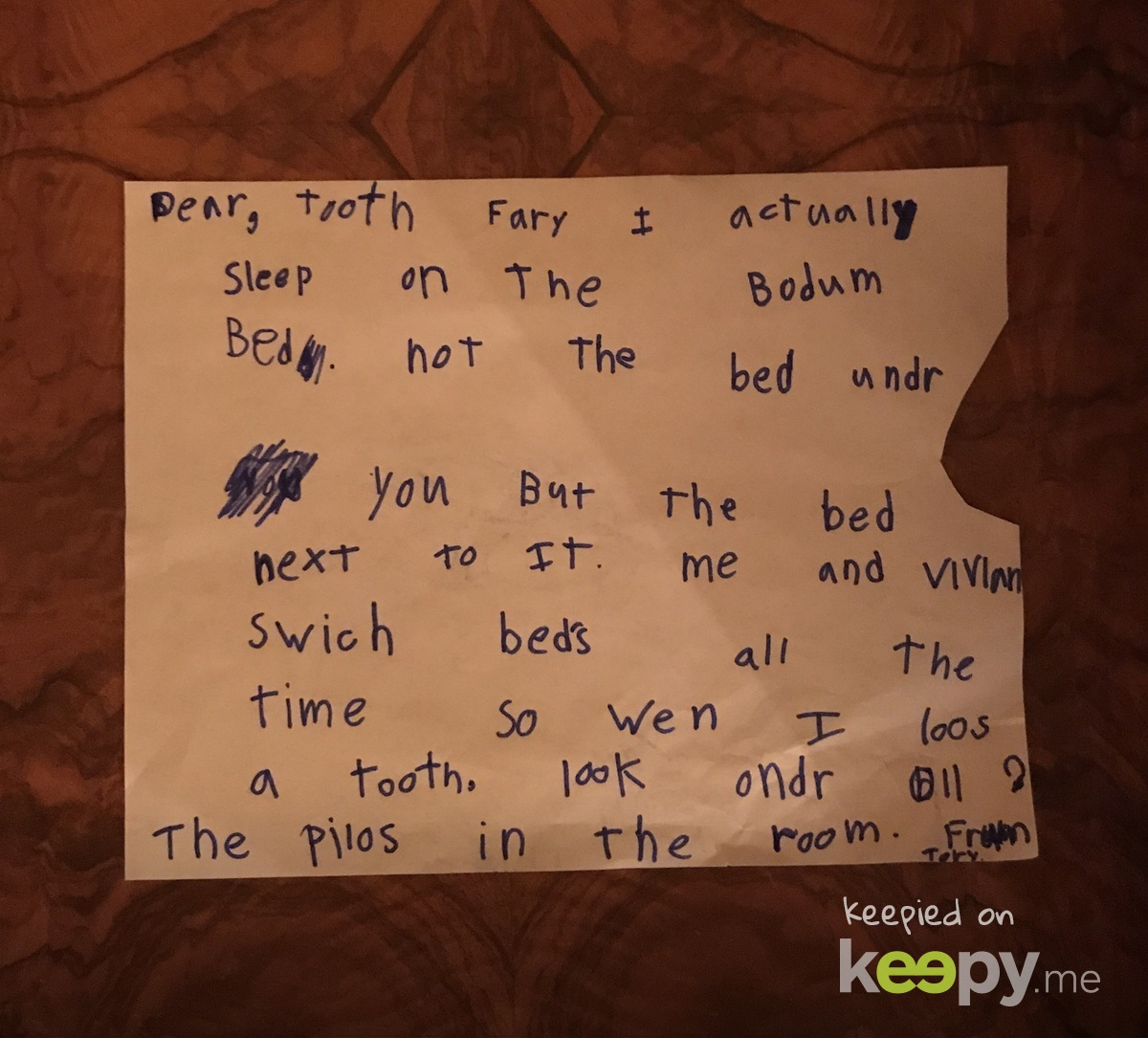 Even the tooth fairy