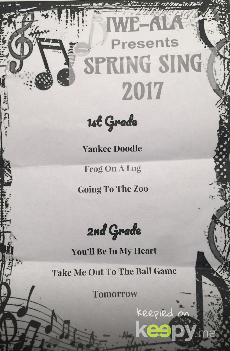 ALA Spring Concert Madi 2nd Grade!