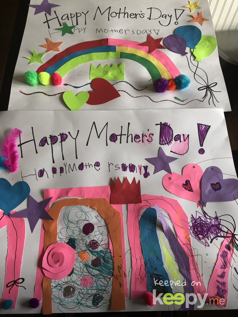 Avery's Mother Day cards to Babs and Annie