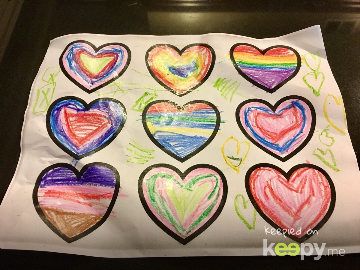Different Valentine's hearts