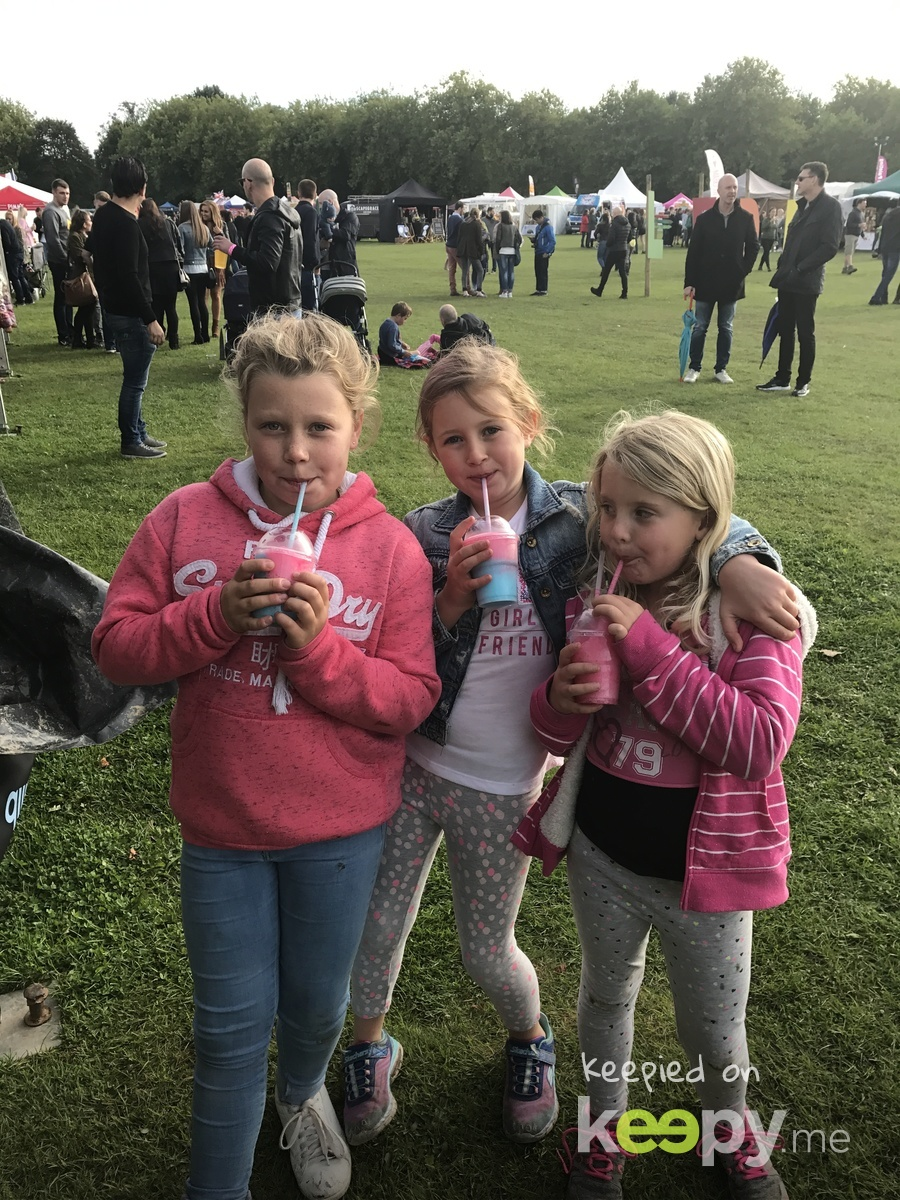 With Maisie and Zoe at LFDF