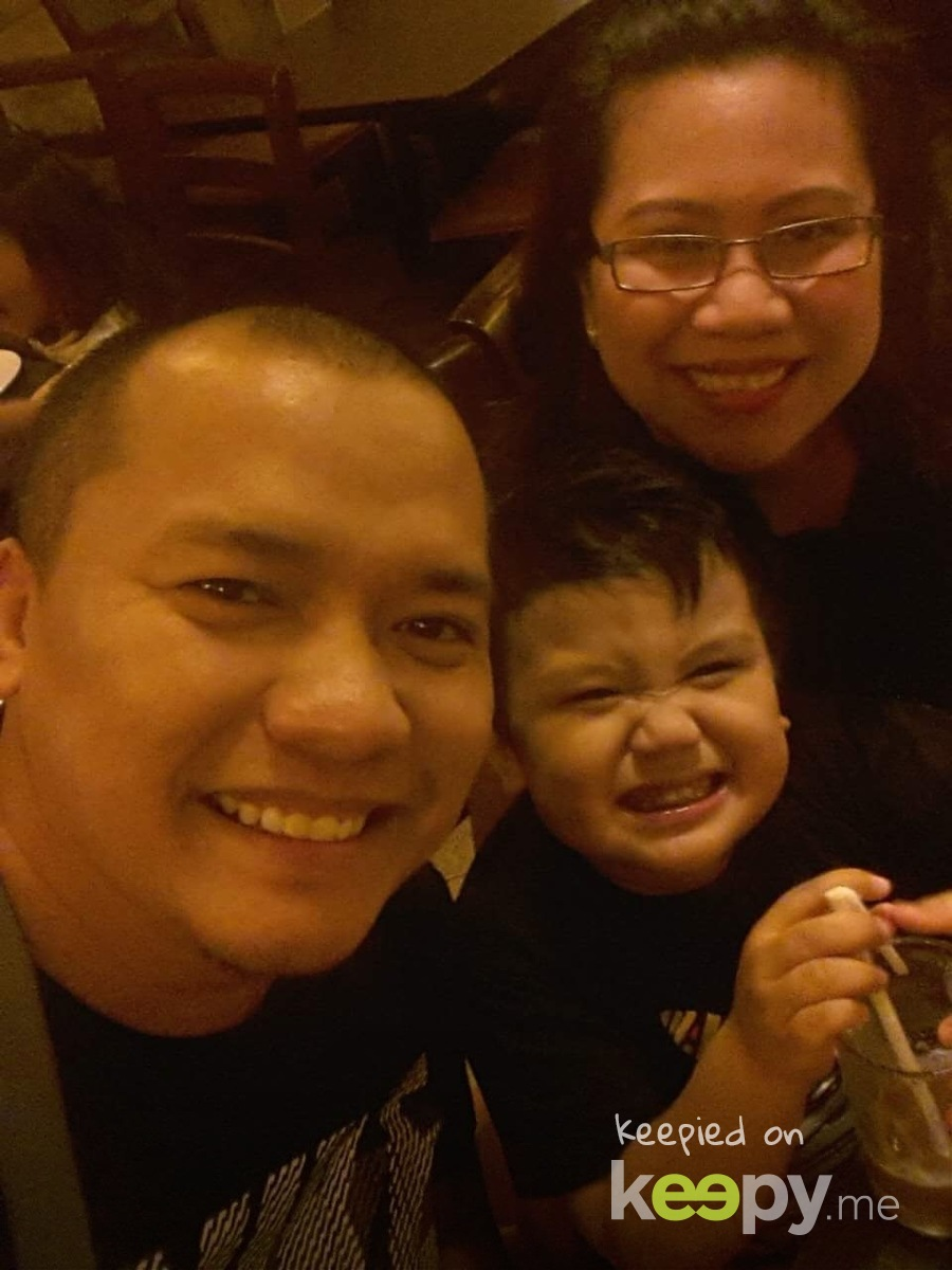 Samson's 4th yr anniversary family picture,cheers to more wonderful things life has to offer! #celebratinginadvance