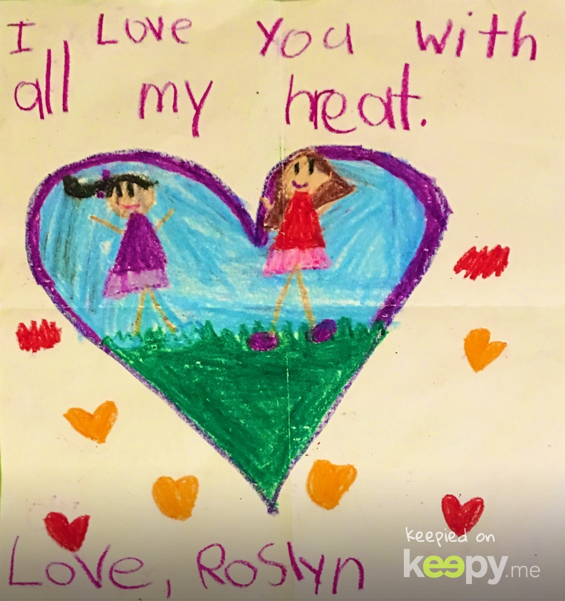 """I love you with all my h(r)eat"". Too cute. #RoslynJ #2018"