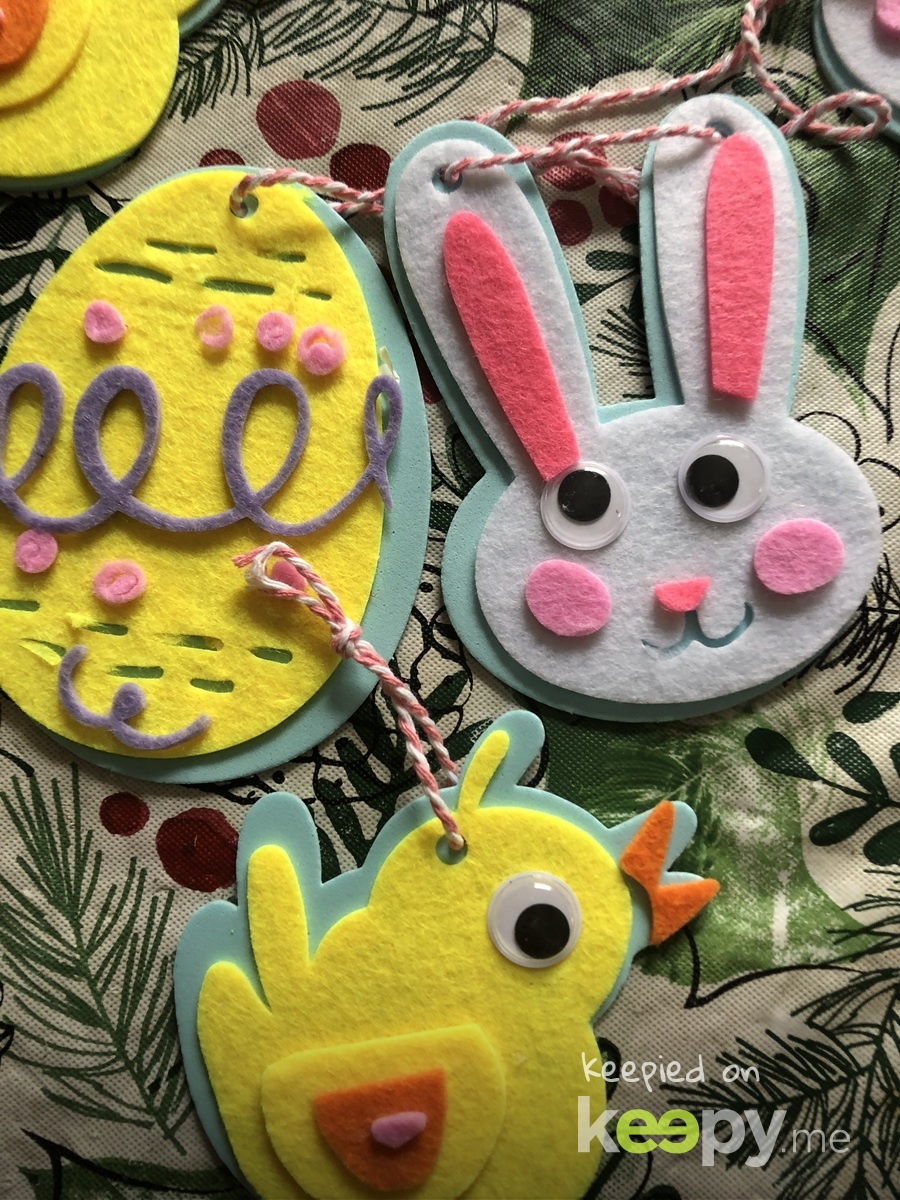 Felt eggs and bunny's and chicks