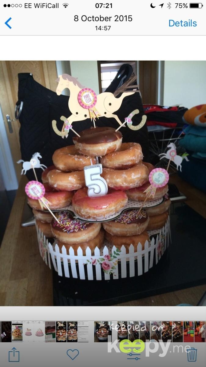 5th birthday Krispy Kreme cake mum made