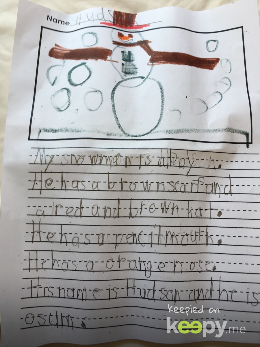 Story of his snowman