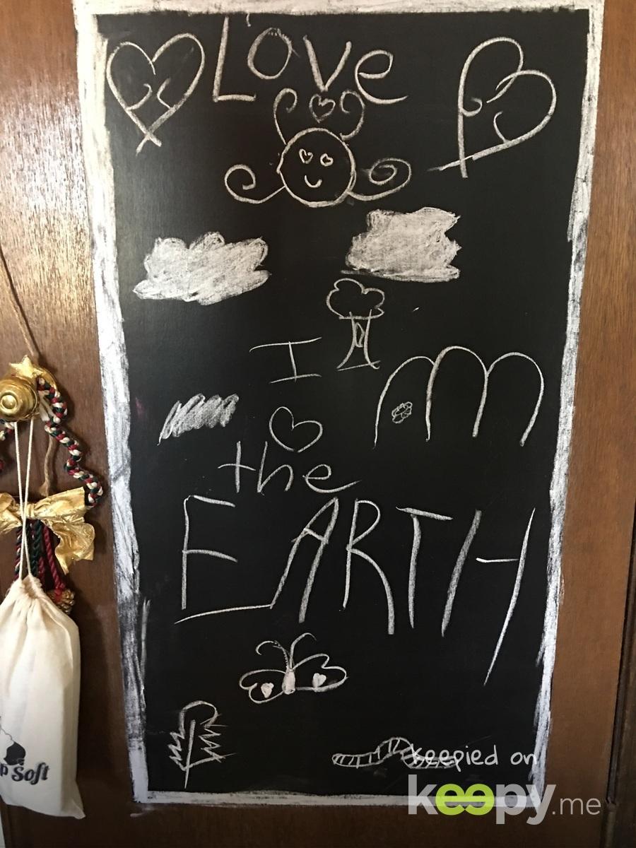 I love the Earth #RoslynJ #chalkboardstories #kidsart #kidsfun #random