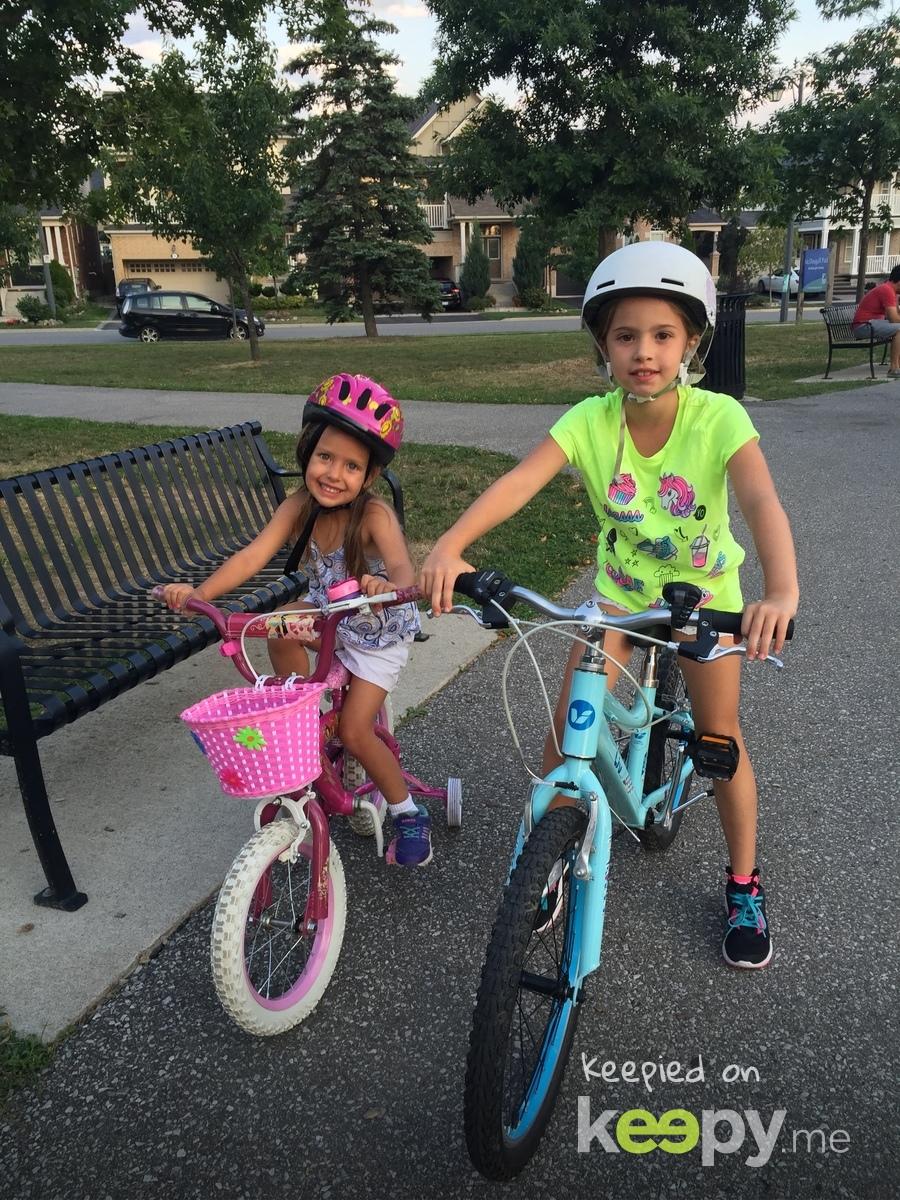 My big girls on their bikes » Keepy.me