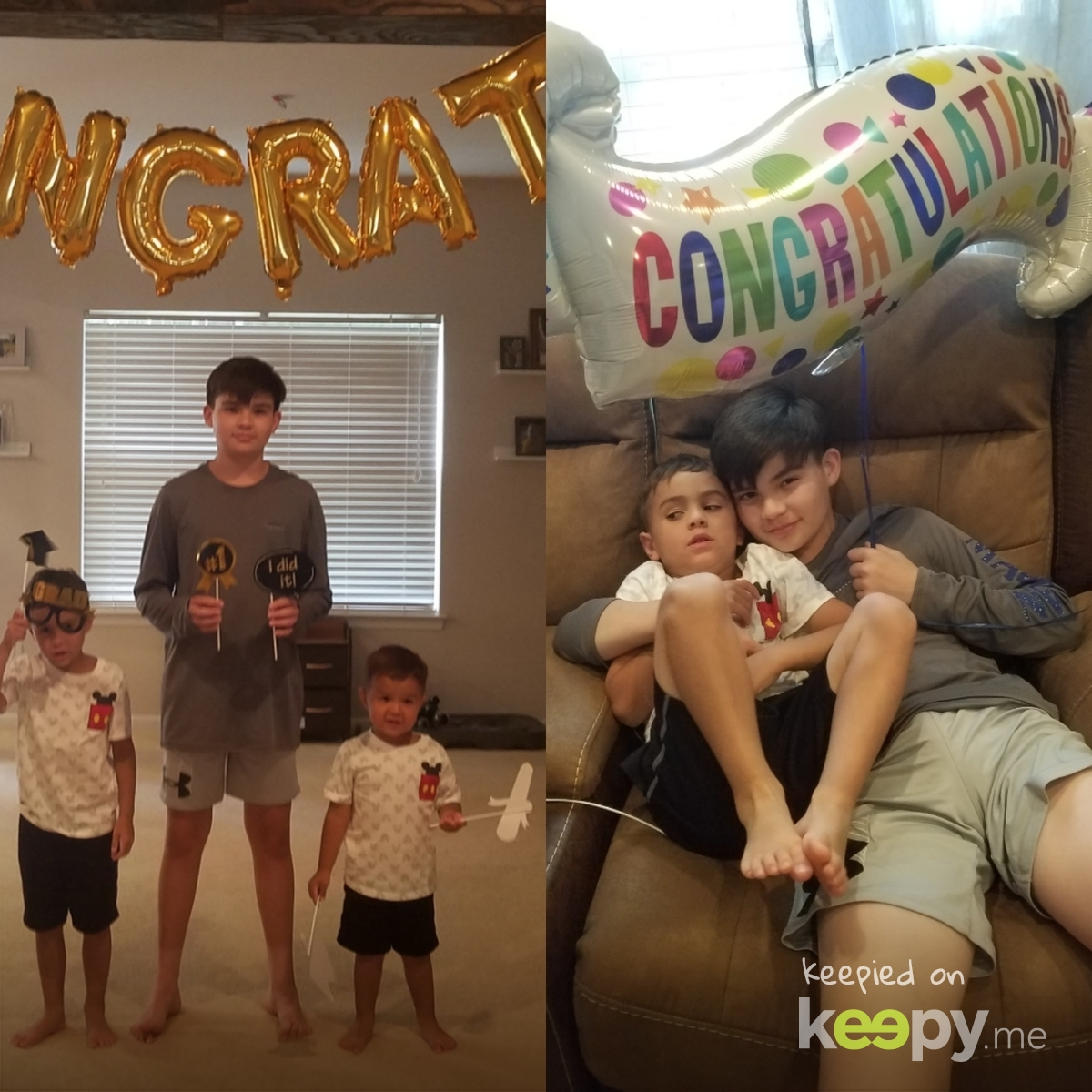 8th grade graduation for Bub and Pre K for Aiden! All virtual » Keepy.me