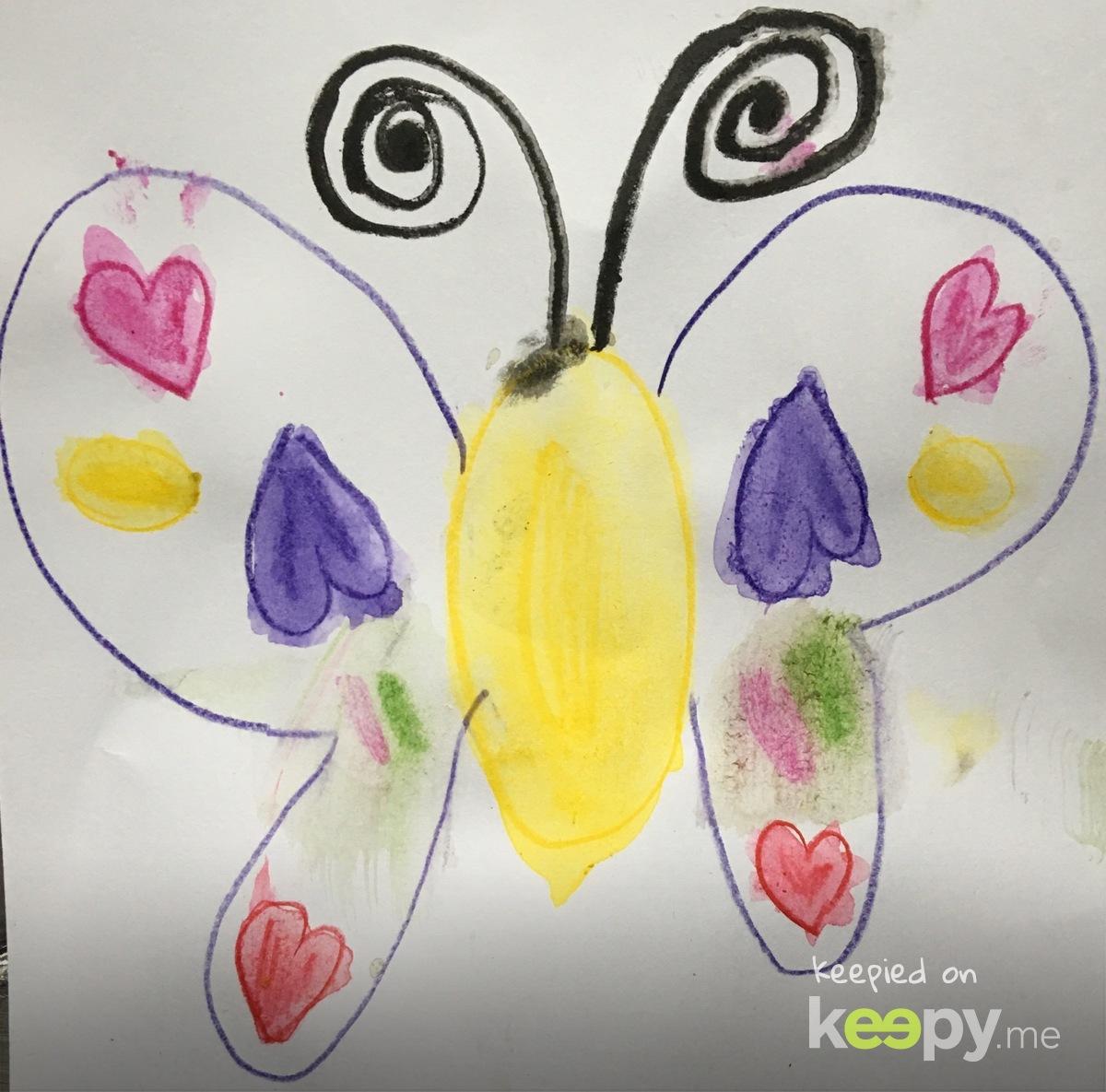 Butterfly. #Watercolor pencil by #RoslynJ » Keepy.me