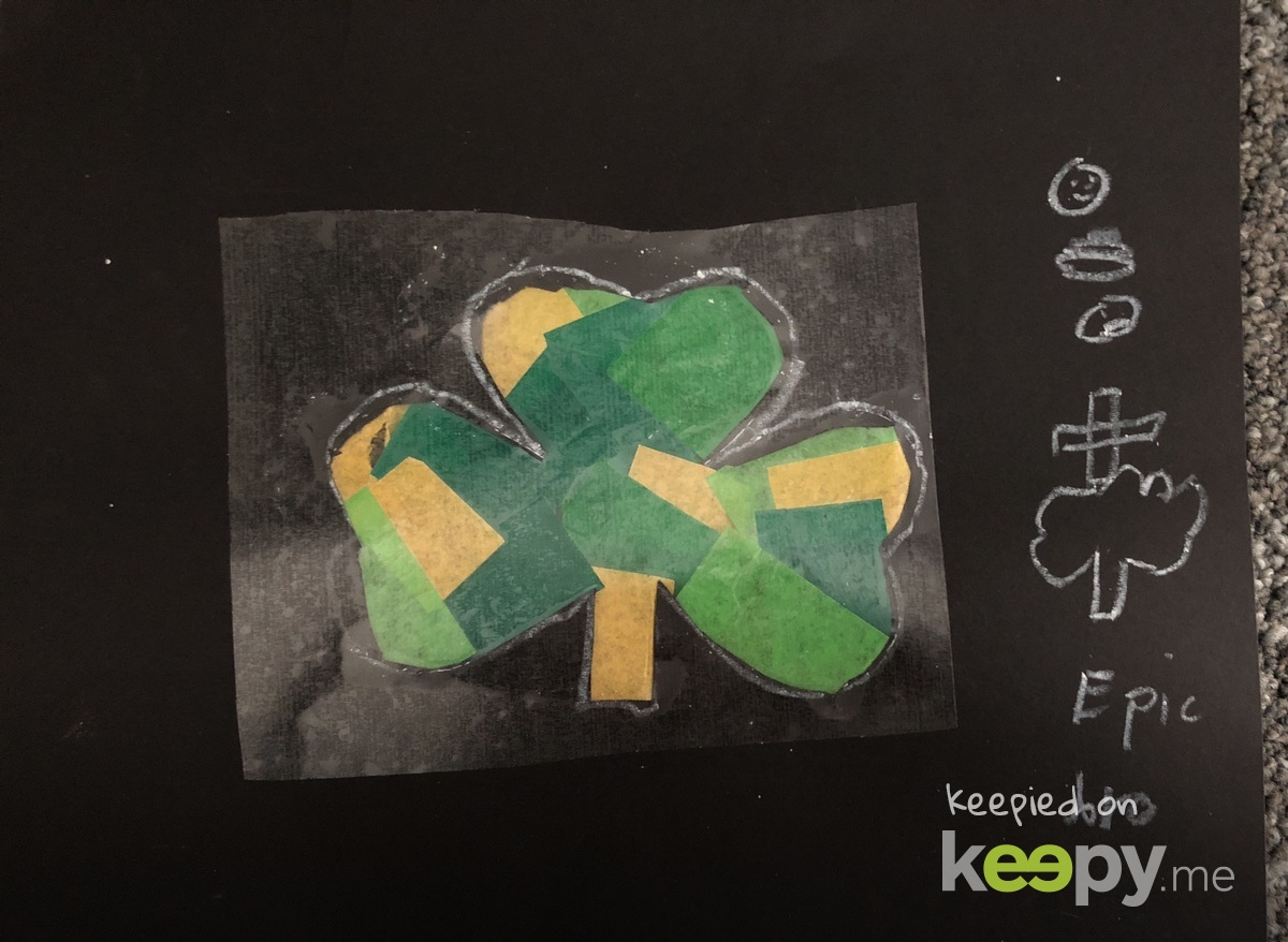 Stain glass clover for St.Patrick's day » Keepy.me