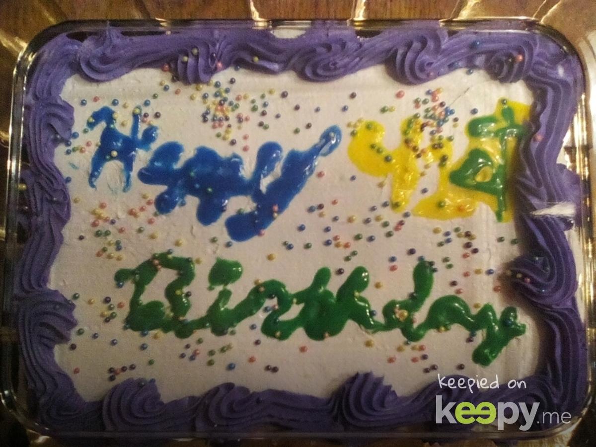 The cake that I made, I did a bad job » Keepy.me