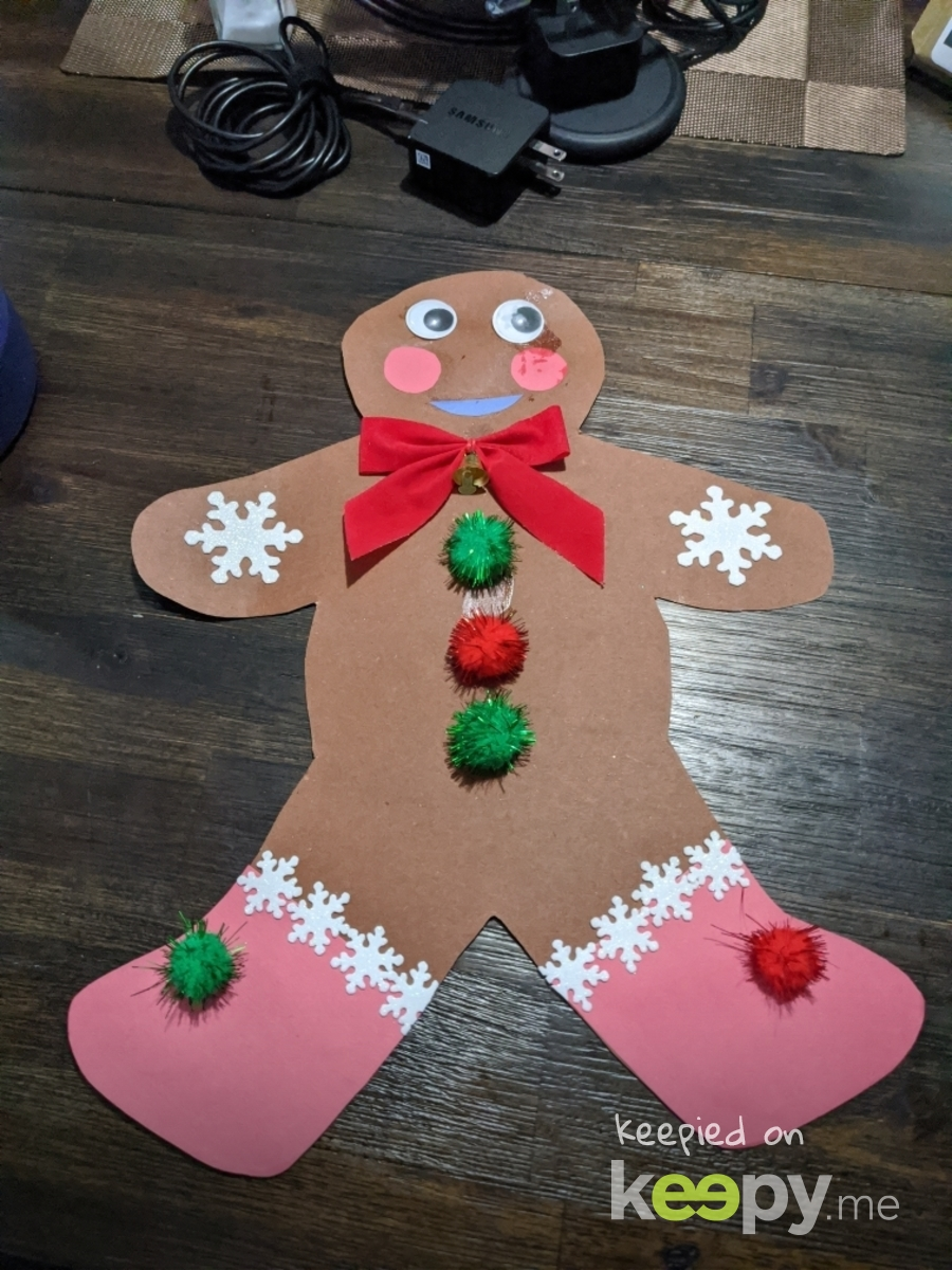 Gingerbread man project 12-2019 » Keepy.me