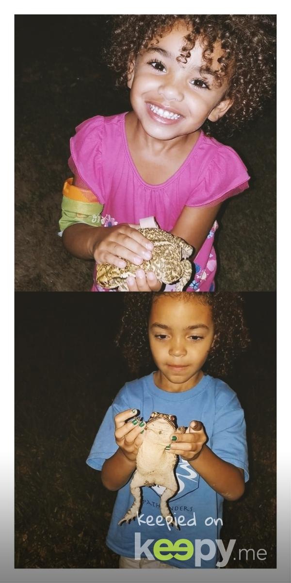 Keira held her first frog 8/7/17  » Keepy.me