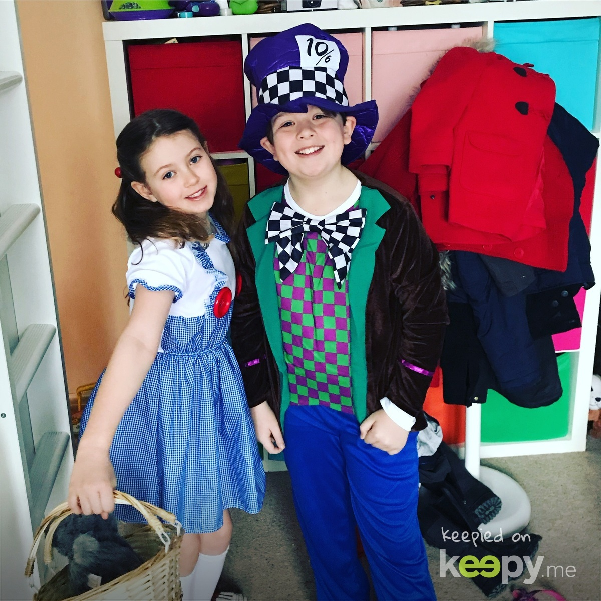 World Book Day 2018. Dorothy and The Mad Hatter. Also the day we found Milo got a place at Calderstones!  » Keepy.me