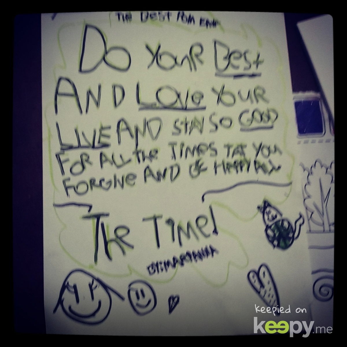 Marianna's poem she wrote.  » Keepy.me