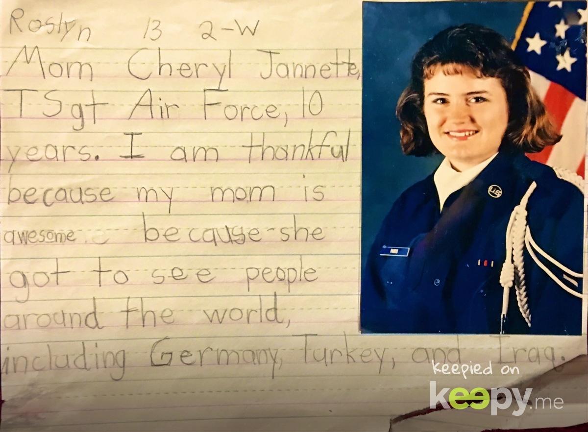 #RoslynJ #VeteransDay acknowledging her #Mommy » Keepy.me