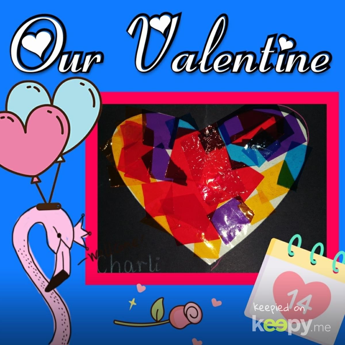 Cellophane Art  for Valentines Day at kinder » Keepy.me
